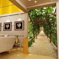 Цветочные Ретро Европейский Стиль Цветок Тисненые Обои 3D Зал Естественно Росписи в Рулонах для Спальни Бытовые Настенные Ресторан