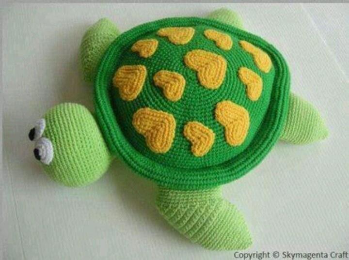 Tortuguita in loveAmigurumi Turtles, Crochet Projects, Crochet Toys, Croche Pattern Amigurumi, Crochet Amigurumi, Crochet Sealife, Sea Turtles, Crochet Pattern, Crafts