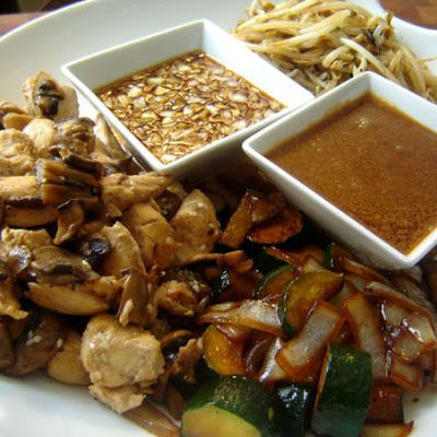 Benihana Hibachi Chicken and Hibachi Steak @keyingredient #chicken #vegetables
