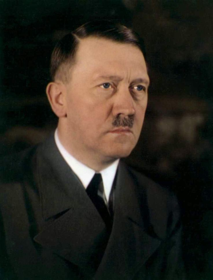 A rare color photo of Adolf Hitler showing the blue color of his eyes.