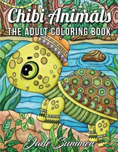 Chibi Animals A Cute Coloring Book With Adorable Cartoon Delightful Nature Scenes And Relaxing Patterns For Stress Relief