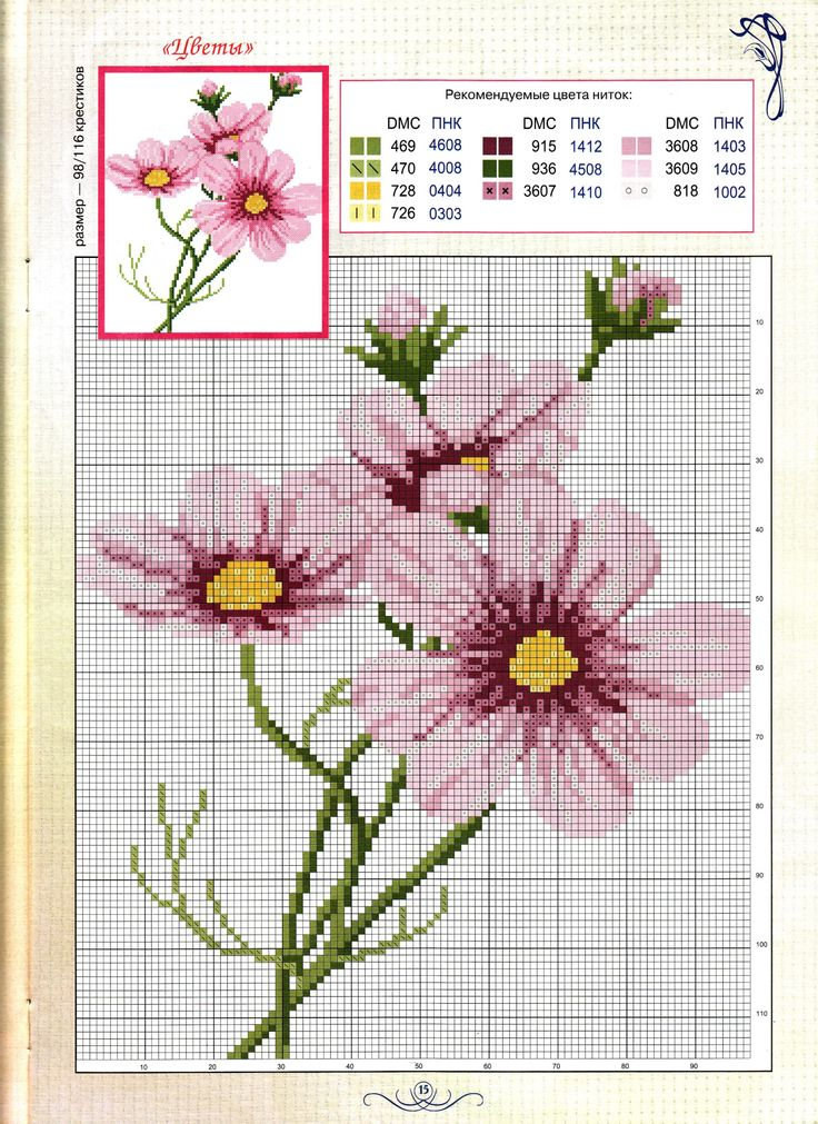 Punto cruz Imagen encontrada en Pinterest Flores en punto cruz Cross stitch X stitch