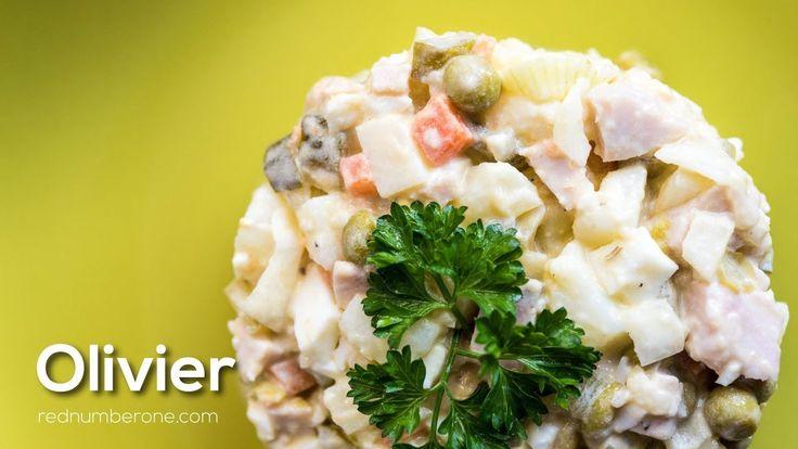 Olivier salad Russian recipe - YouTube