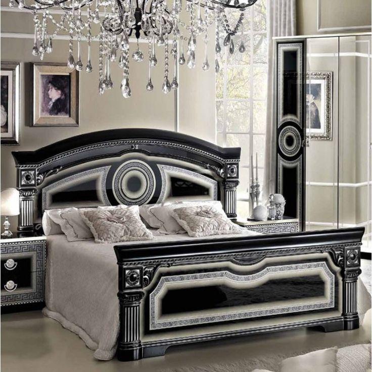 Schlafzimmer Schwarz Silber #25: Schlafzimmer Aida Schwarz-Silber