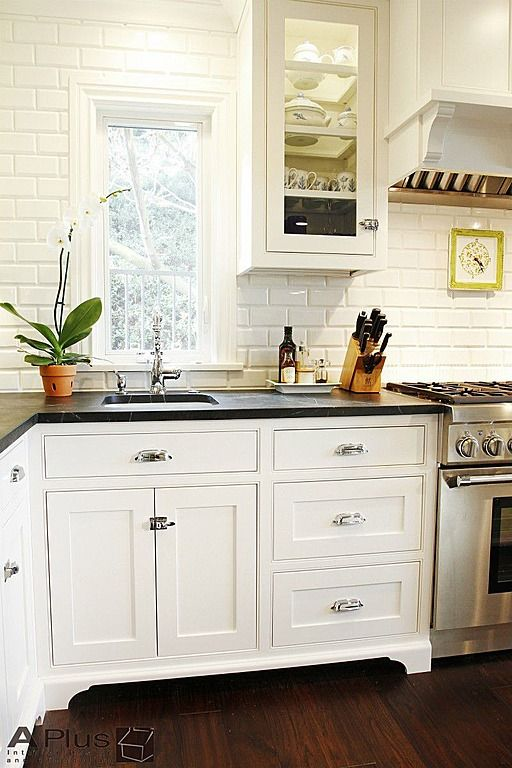 """Butler Pantry"" style cabinets with latches - bring that vintage 1920s feel into modern kitchen"