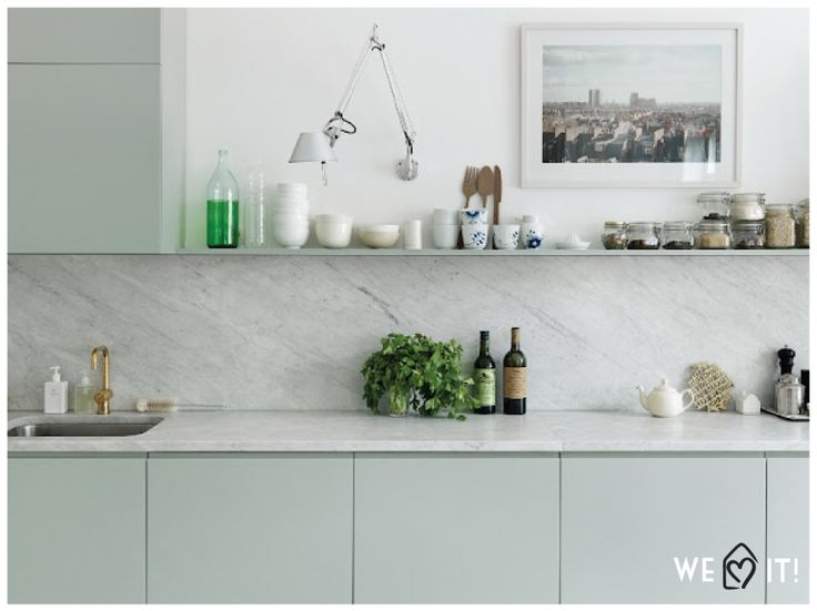 Apartamento escandinavo branco e menta