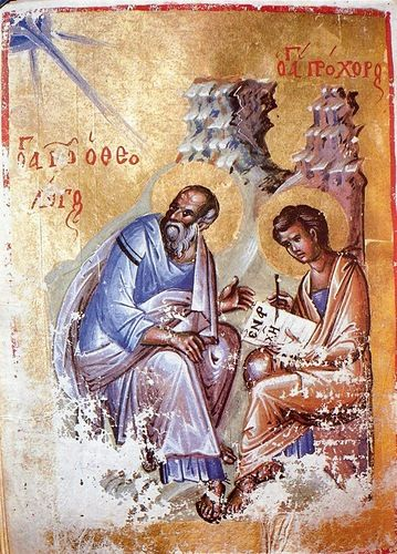 Saint John Evagelist with his student Proxoros