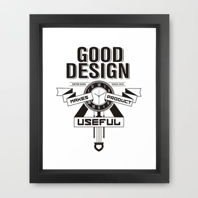 Good designs makes product useful Framed Art Print by CreativeNerveDesign - $35.00