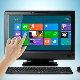 Windows 8 on a Touchscreen: soon to be on our machines.