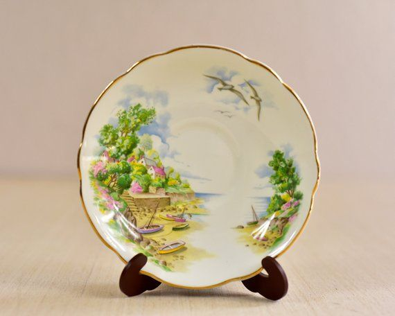Vintage Bone China Saucer Decorative Plate Display Plate Collectible Plate Fine China Made In Engl Decorative Plates Display Collectable Plates Vintage Ceramic