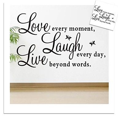 ZOOYOO® removable colorful cute words love live laugh 3D wall sticker home decor wall stickers for kids/living room - EUR € 11.81