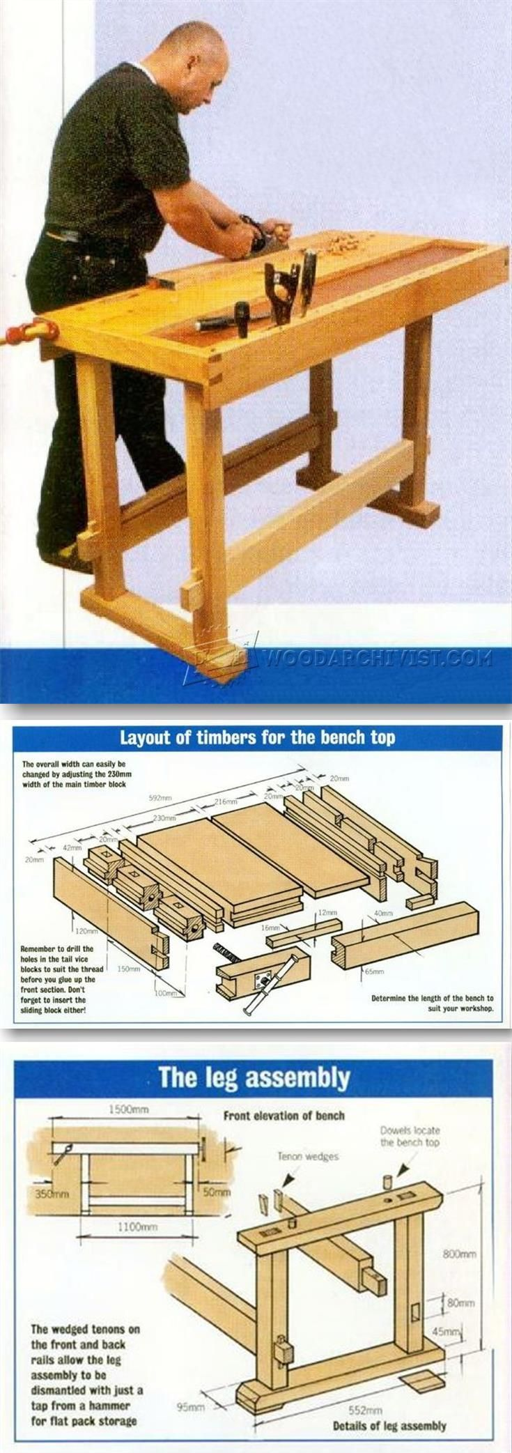 Cabinetmaker's Workbench Plans - Workshop Solutions Projects, Tips and Tricks | WoodArchivist.com