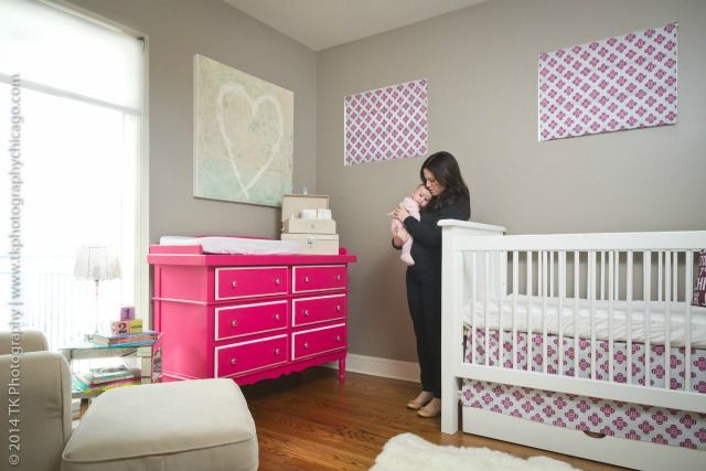 Modern Fuchsia and Gray Nursery: Celine Dressers, Girls Generation, Projects Nurseries, Olivia Nurseries, San Francisco, Girls Rooms, Sprouts San, Alexis Cribs, Gray Nurseries
