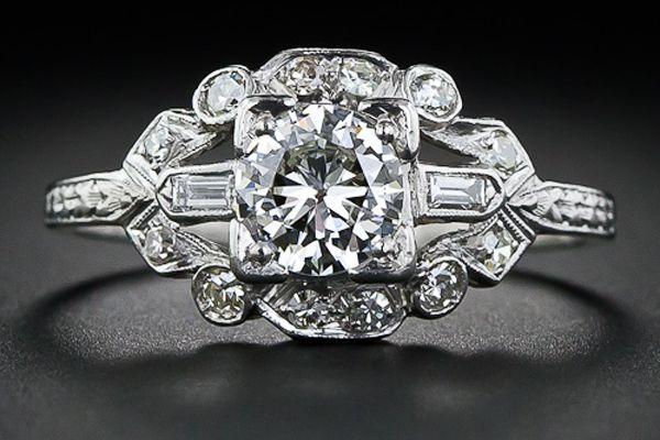 Lang Antiques-Lang Antiques-$3,850Deco Platinum, Diamond Engagement Rings, Vintage Engagement Rings, Carat Art, Vintage Rings, Diamonds Rings, Antiques Rings, Diamonds Engagement, Art Deco
