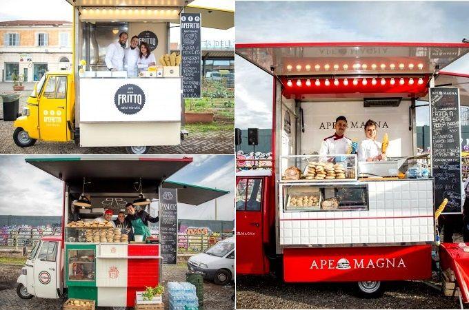 """Net als in Nederland is ook in Italië is de foodtruck hype gearriveerd, voor de tweede keer zal het STREEAT Foodtruch Festival in Rome """"aanrollen"""". Ook deze maal zal dit gigantische openluchtrestaurant zich op het terrein van de Città dell'Altra Economia in Testaccio plaatsvinden. Bereid je voor om je buikje rond te eten in het lange weekend van 23, 24"""