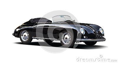 Classic Porsche Speedster 356 on white