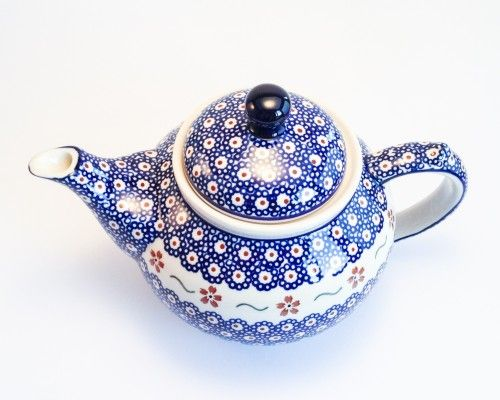 Teapot 1.25l #PotteryCorner #Boleslawiec #Polishpottery #mug #teapot
