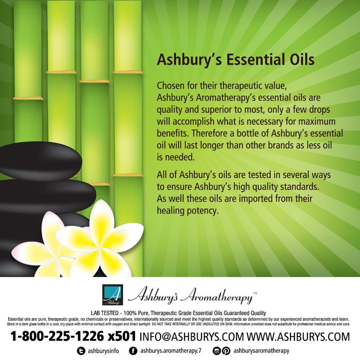 Ashbury's Essential Oils Chosen for their therapeutic value, Ashbury's Aromatherapy's essential oils arequality and superior to most, only a few drops will accomplish what is necessary for maximum benefits. Therefore a bottle of Ashbury's essential oil will last longer than other brands as less oilis needed. All of Ashbury's oils are tested in several ways to ensure Ashbury's high quality standards. As well these oils are imported from their healing potency. #ashburysaromatherapy