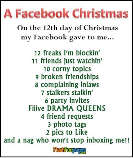facebook Christmas ecard