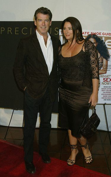 Actor Pierce Brosnan and wife Keely Shaye Smith attend the InStyle magazine book launch of 'Precious' by photographers Melanie Dunea and Nigel Parry at Chateau Marmont on Sunset Boulevard September 21, 2004 in Los Angeles, California.