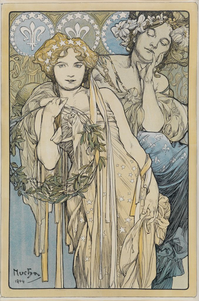 ALPHONSE MUCHA (1860-1939) [FRIENDSHIP.] 1904.