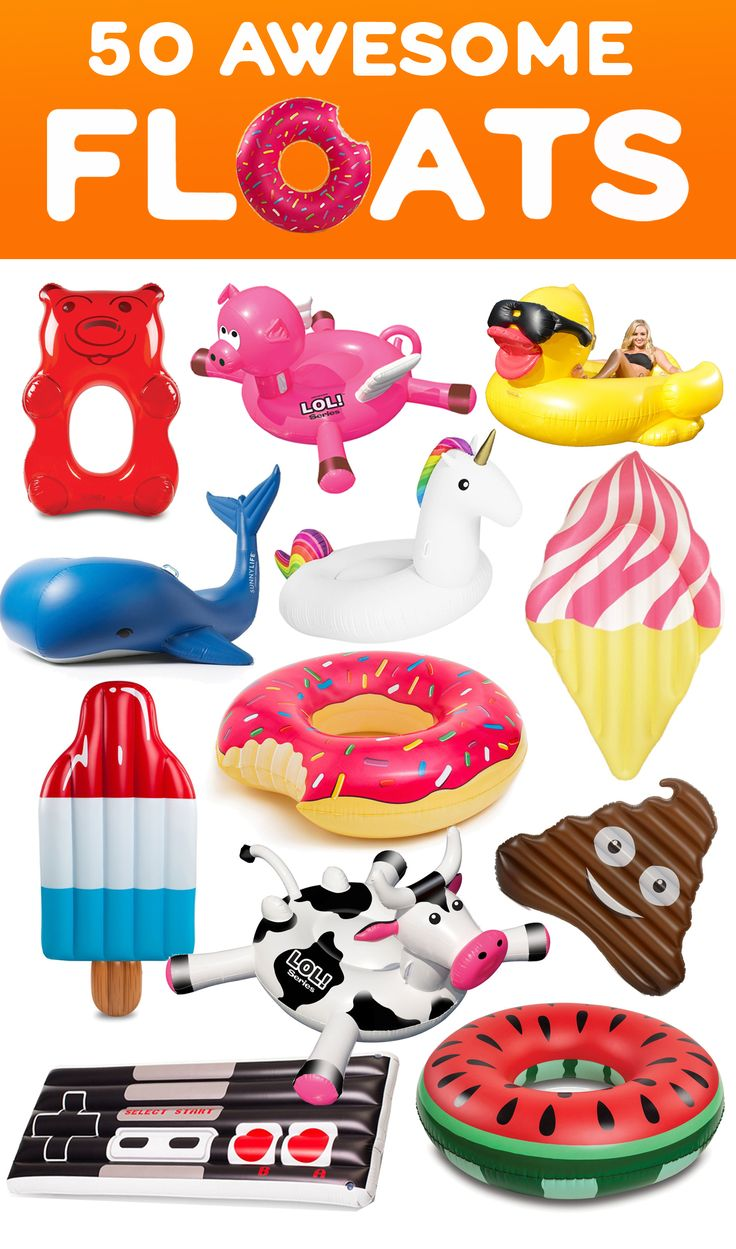 50 Awesome Pool Floats! Summer's here and it's time to float in style.
