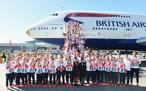 Team GB Arrive Home From The Rio Olympics at Heathrow Airport
