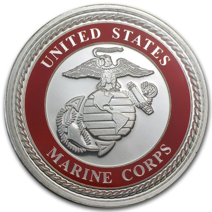 1 Oz Silver Round Coin U S Marines Enameled Gift Box