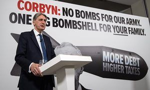 Chancellor of the exchequer Philip Hammond campaigning on Wednesday