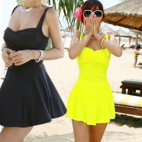 New Arrival 2014 Casual Cute Slim Maillot De Bain Skirt High Waist Swimsuit Monokini Brand Women Vintage One Pieces Dropshipping US $27.98