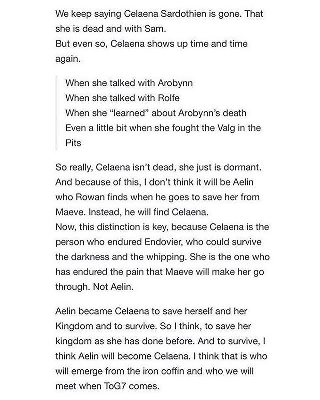 I fully support this theory, I think we're going to be seeing Celaena Sardothien again in the final Throne of Glass book. Though I also like the idea of Celaena being with Sam and Rowan with Aelin (obviously)
