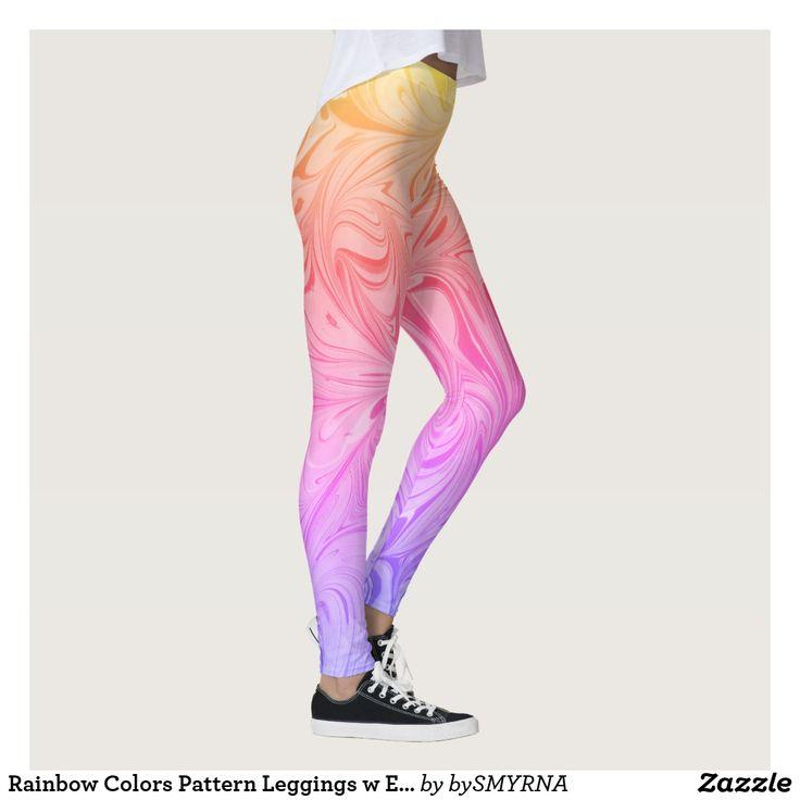 Rainbow Colors Pattern Leggings w Ebru D#1-Ipanema