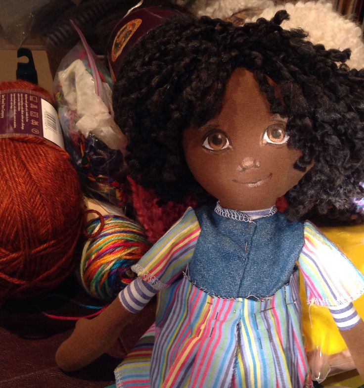 Enjoying the final touches as this little doll comes together and begins to show her personality.