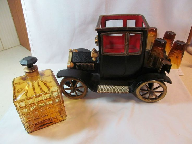 FORD MODEL T CAR DECANTER Liquor Holder Music Box Shot