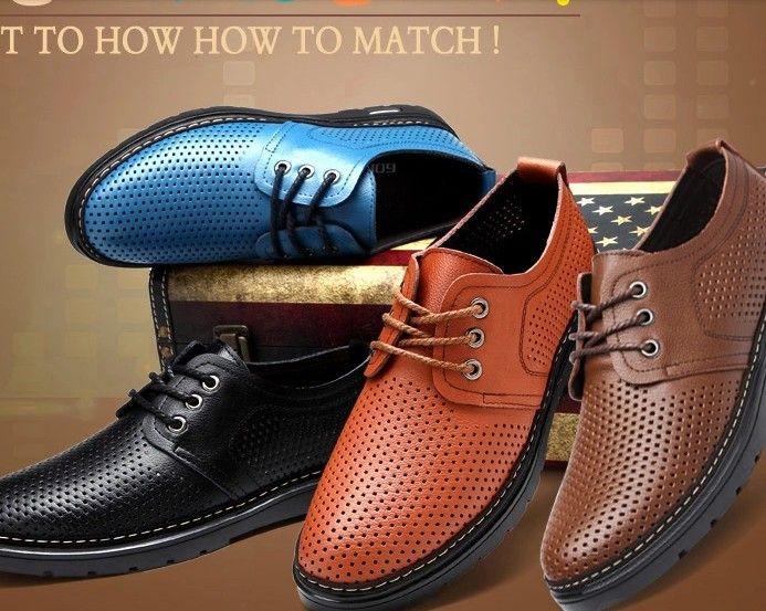 Мужские кожаные туфли летом мужской обуви из натуральной кожи 2015 мужская мода рекламные скидки мужские оксфорд мужская обувь