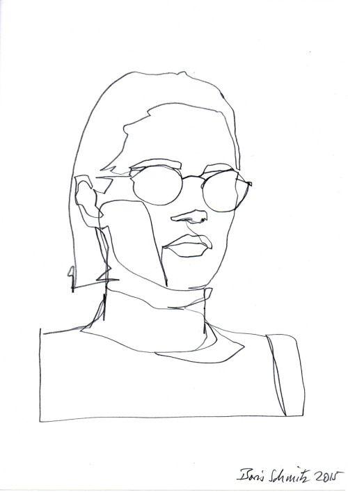 "Drawing Lines With Ncurses : Borisschmitz ""gaze ″ continuous line drawing by boris"
