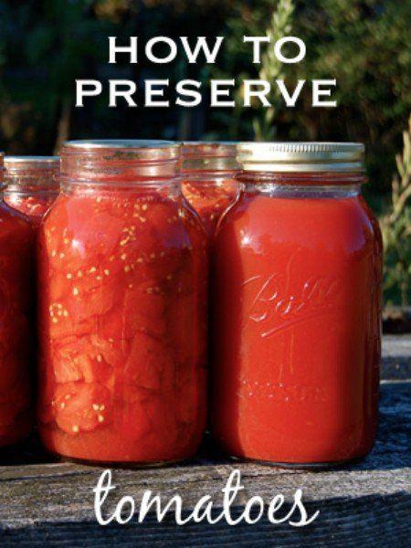 8 Ways To Preserve Tomatoes.