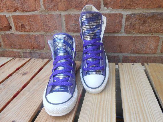 Purple Haze custom Taylor Chucks by JAMCouture4u on Etsy, $90.00