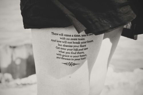 Awesome Mumford and Sons - After The Storm lyrics tattoo- Not sure
