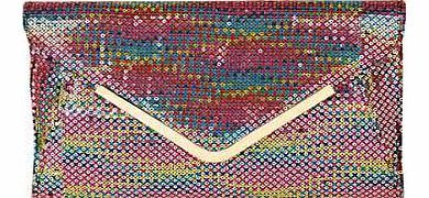 Lotus Sequin Clutch Bag This statement, multi-coloured clutch bag is the perfect accessory to help you stand out in a crowd. Lotus Bag Features: Other materials Size: 17H x 18.5W x 5.5D cm (6¾ x 8 x 2¼ ins)SPECIAL OFFER: Buy http://www.comparestoreprices.co.uk/handbags/lotus-sequin-clutch-bag.asp