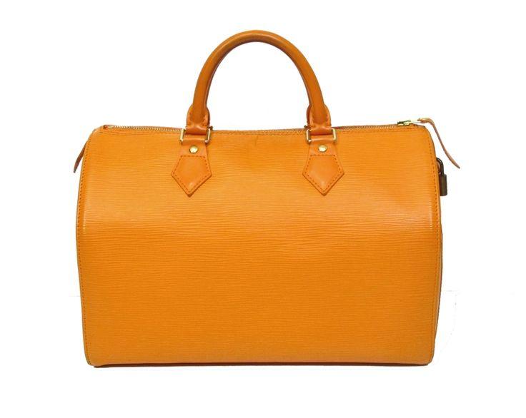 louis vuitton mandarin orange epi leather speedy 30 bag