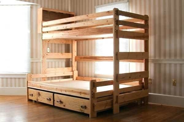 Diy Twin Over Queen Bunk Bed Plans Diy Bunk Bed Queen Bunk Beds Bunk Beds With Stairs