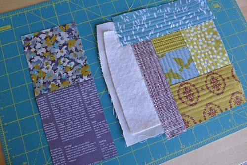 """A good explanation of the """"quilt as you go"""" technique and a great way to make bag pieces without the interfacing! Definately going to do this."""