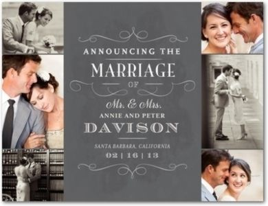 Marriage Announcements Wedding Ideas And Inspiration Loverly Nwslswy