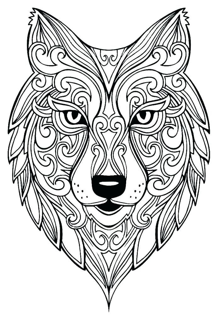 Wolf Coloring Pages For Adults Best Coloring Pages For Kids Animal Coloring Pages Mandala Coloring Pages Mandala Coloring