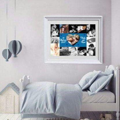 Idea regalo per la festa del papà.  Poster collage di foto..