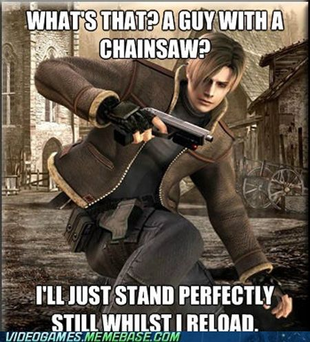 funny video game logic. Matt hates that logic in Resident Evil