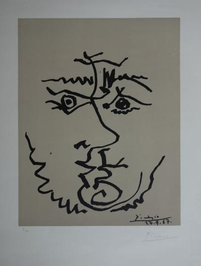 Pablo PICASSO - Visages, Lithographie signée et numérotée 1