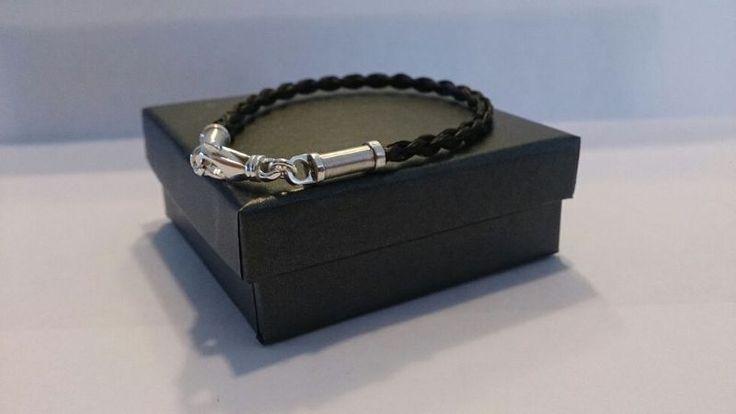 Gevlochten paardenhaar armband met een zilveren handgemaakte sluiting