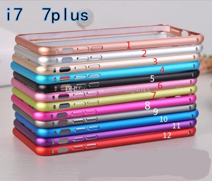 metal Aluminium alloy phone frame for iphone7 iphone 7 5s 6 6s plus Aluminium alloy frame case cases button Protective frame 12colors